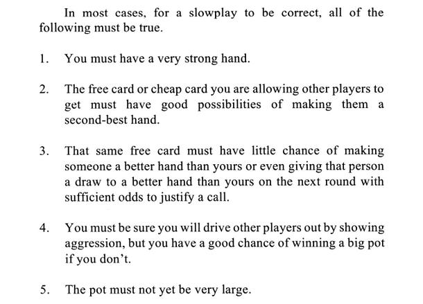 online poker theory sklansky