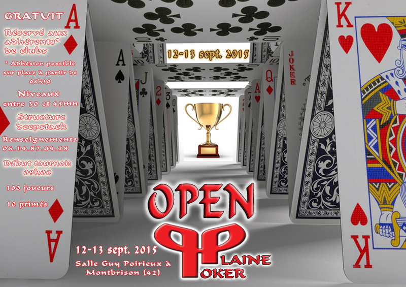 OPEN PLAINE POKER 12-13 septembre 2015