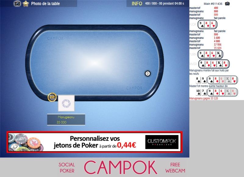 le gagnant du premier tournoi de Plaine Poker sur campok