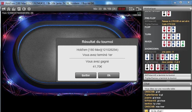 win du 180max buy in 1€