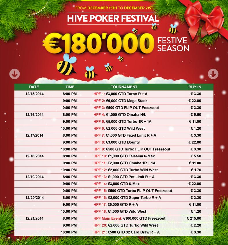Hive poker festival